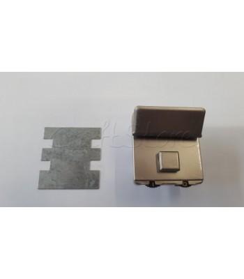 Μεταλλικό Κούμπωμα Τσάντας 5εκ.X 5εκ. Νίκελ