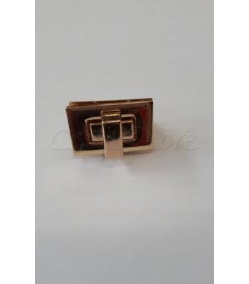 Στριφτό Κούμπωμα Ορθογώνιο Χρυσό 2.5 x 1.5cm