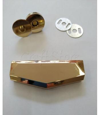 Μεταλλικό Χρυσό Διακοσμητικό Κούμπωμα 6x2.3cm