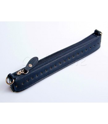Zipper Full 25εκ Φερμουαρ με μεταλλικά στοιχεία και οδηγό μπλε