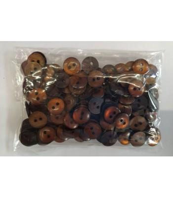 Κουμπιά Διακοσμητικά Χρώμα Καφέ 10mm (50 τεμάχια)