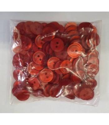 Κουμπιά Διακοσμητικά Πλαστικά Χρώμα Κόκκινο 10mm (144 τεμάχια)