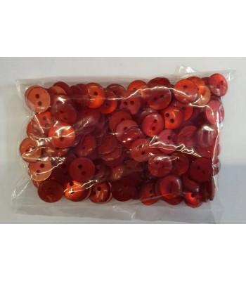 Κουμπιά Διακοσμητικά Χρώμα Κόκκινο 10mm (50 τεμάχια)