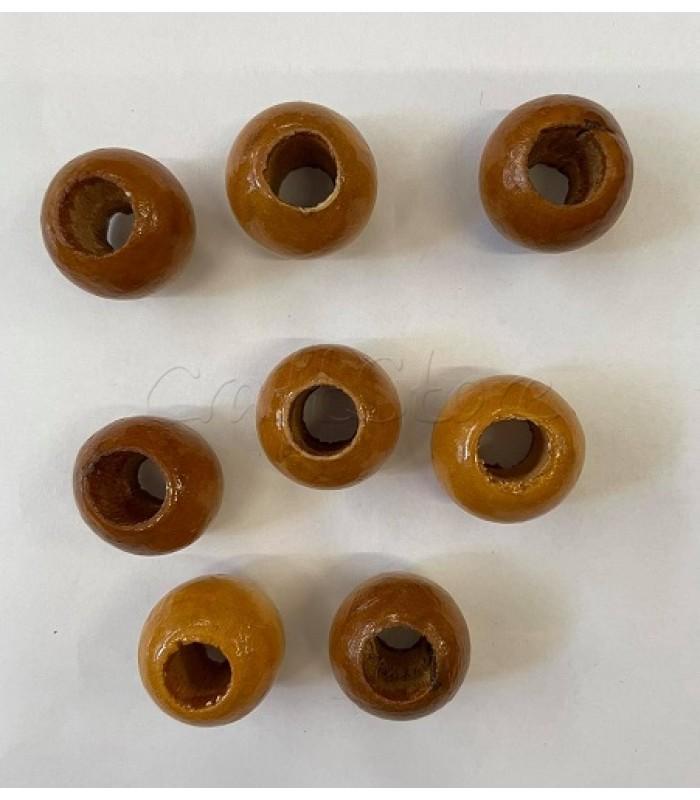 Ξύλινες Χάντρες 28mmX 20mm/ 8 τεμάχια