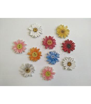 Κουμπιά Μαργαριτούλες 25mm (10 τεμάχια)