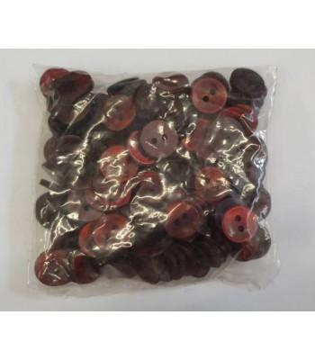 Κουμπιά Διακοσμητικά Πλαστικά Χρώμα Μπορντώ 10mm (144 τεμάχια)