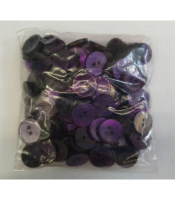 Κουμπιά Διακοσμητικά Πλαστικά Χρώμα Μωβ 15mm (144 τεμάχια)