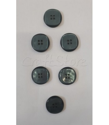 Κουμπιά Πλαστικά Χρώμα Πετρόλ Σκούρο 25mm/ 6 τμχ