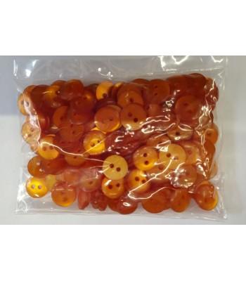 Κουμπιά Διακοσμητικά Χρώμα Πορτοκαλί 10mm (50 τεμάχια)