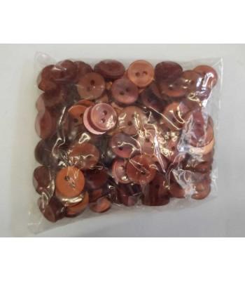 Κουμπιά Διακοσμητικά Πλαστικά Χρώμα Σάπιο Μήλο 10mm (144 τεμάχια)