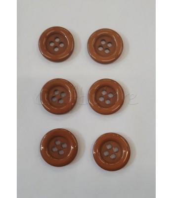 Κουμπιά Πλαστικά Χρώμα Ταμπά 25mm/ 6 τμχ