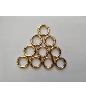 Κρίκος με Μηχανισμό Χρυσό 13mm/ 1τμχ