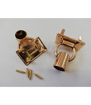 Βάση με κρίκο για χερούλι τύπου σωλήνα 2.5Χ4εκ. / Χρυσό/ 1τμχ