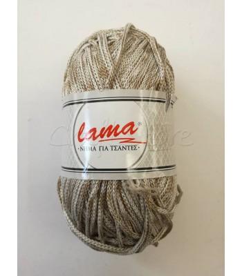 Κορδόνι για Τσάντες Lama Δίχρωμο Γκρι Αρζάν-Μπεζ Πούρου/ 200γρ
