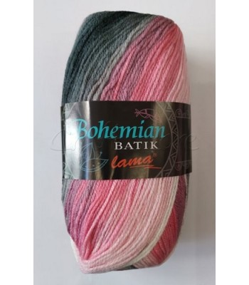 Bohemian Batik 100gr Ροζ με Γκρι