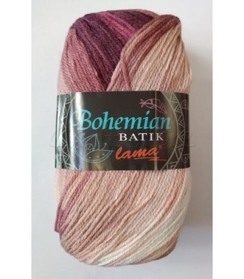 Bohemian Batik 100gr Ροζ Παλαιό με Μπορντώ