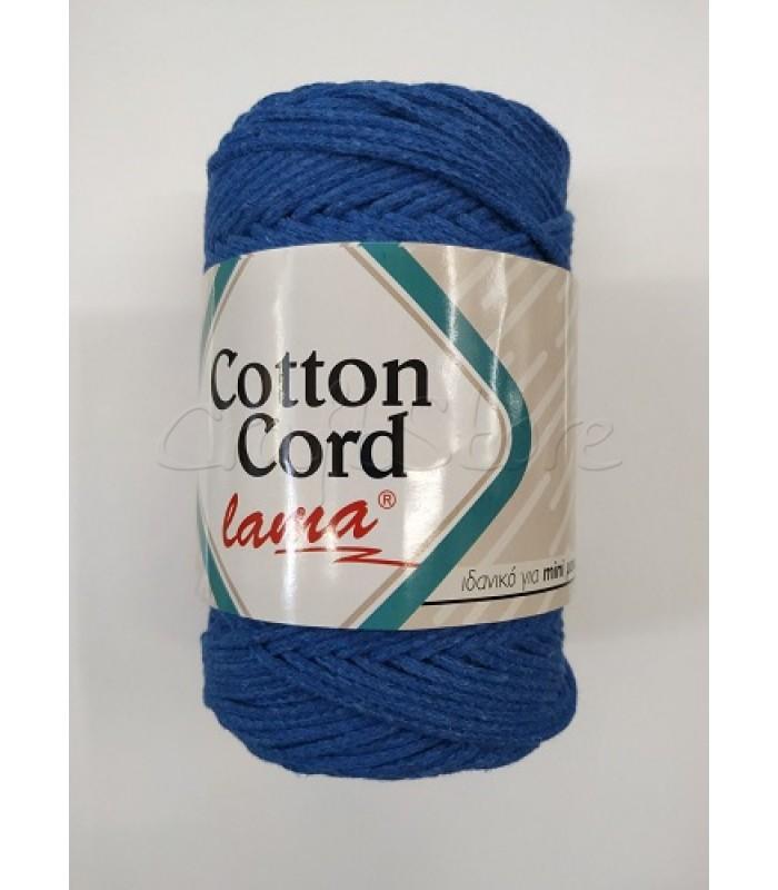 Βαμβακερό Νήμα Cotton Cord Μπλε Ραφ 250gr