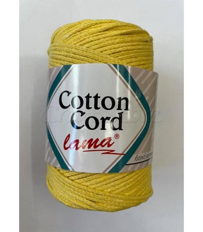 Βαμβακερό Νήμα Cotton Cord Κίτρινο 250gr