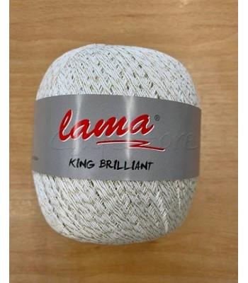 Δαντελόνημα King Brilliant 100gr Λευκό με Χρυσοκλωστή 560m.