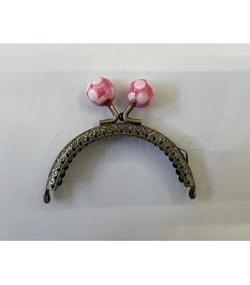 Ζαχαρωτό Κούμπωμα  Μπρονζέ Ροζ 8.5cm