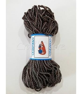 Κορδόνι Πλεγμένο  Μαύρο-Καφέ-Μπεζ 200γρ