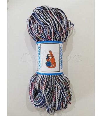 Κορδόνι Πλεγμένο  Λευκό-Μπλε Πολύχρωμο 200γρ