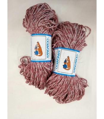 Κορδόνι Πολυπροπυλένιο Τρίχρωμο Κερασί-Ιβουαρ