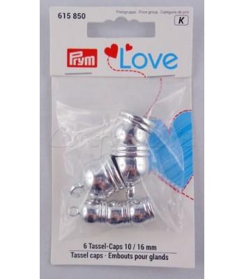 Πλαστικό Καπελάκι για Φουντάκια Ασημί 10mm & 16mm /6τμχ