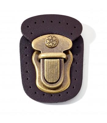 Κούμπωμα Τσάντας Μαγνητικό Μπρονζέ/Σκούρο Καφέ 40x55mm