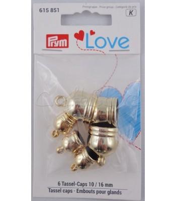 Πλαστικό Καπελάκι για Φουντάκια  Χρυσό 10mm & 16mm /6τμχ