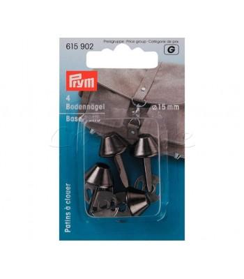 Ποδαράκι βάσης τσάντας 15 mm Μαύρο Νίκελ (4 τεμάχια)