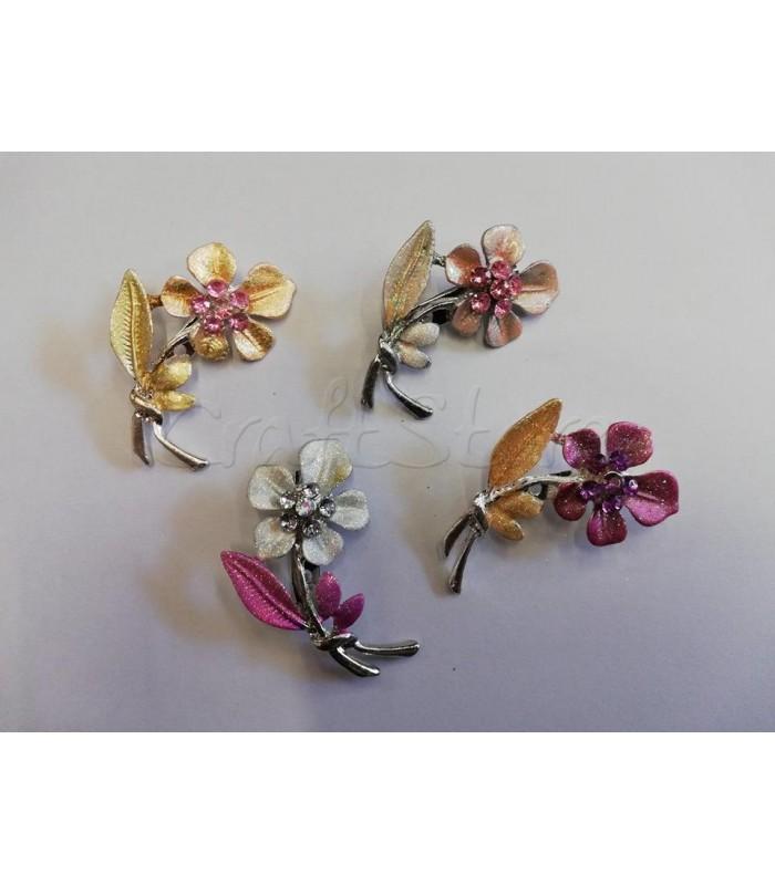 Διακοσμητική Καρφίτσα 5x3εκ. Λουλούδι