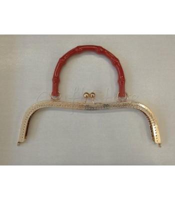 Πλαίσιο Χρυσό με Χερούλι  Κόκκινο 26cm