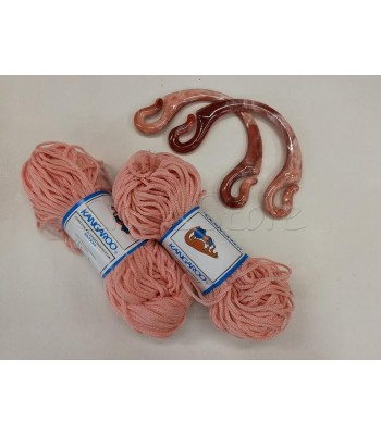 Σετ προσφορά Κορδόνι Πολυπροπυλένιο Ροζ & Χερούλια Pipo με νερά