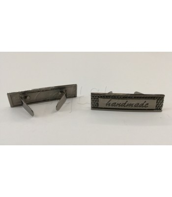 Ταμπελάκι ομορφιάς  Handmade 4x1cm Μαύρο Νίκελ