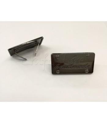 Ταμπελάκι ομορφιάς  Handmade 4x2cm Μαύρο Νίκελ