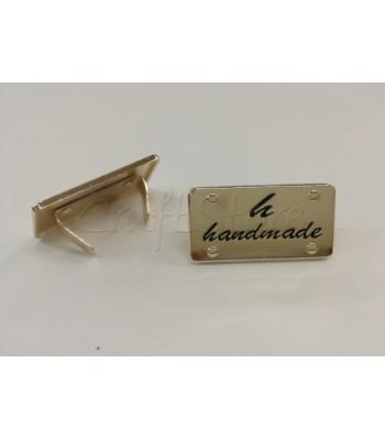 Ταμπελάκι ομορφιάς  Handmade 4x2cm Χρυσό