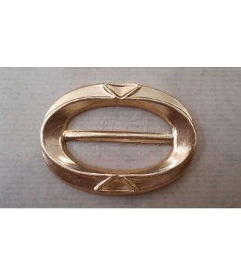 Διακοσμητική Αγκράφα Αλουμινίου Χρυσή 6εκ. Χ 4εκ. / 1 τεμάχιο