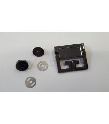 Μεταλλικό Διακοσμητικό Κούμπωμα Μαύρο Νίκελ 5x4.5cm