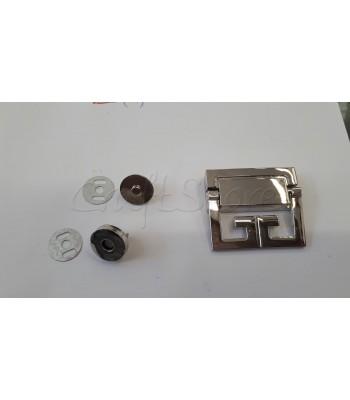 Μεταλλικό Διακοσμητικό Κούμπωμα Νίκελ 5x4.5cm