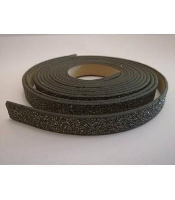 Κορδέλα Δερματίνης Glitter 10mm Μαύρο