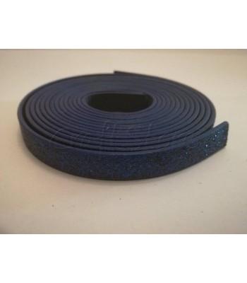 Κορδέλα Δερματίνης Glitter 10mm Μπλε