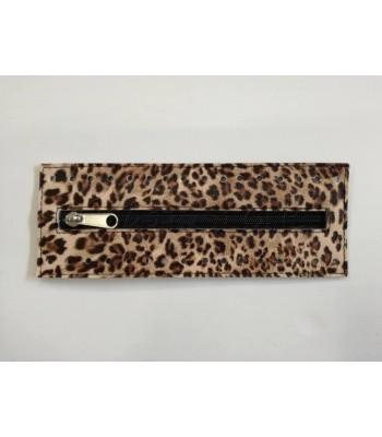 Φερμουαρ με Φάσα Δερματίνης 20cm/ Leopard