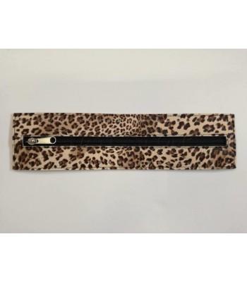 Φερμουαρ με Φάσα Δερματίνης 30cm/Leopard