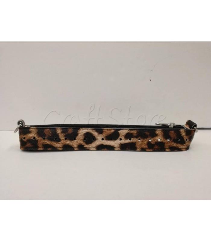 Zipper Full 25εκ Φερμουαρ με μεταλλικά στοιχεία και Oδηγό Νικελ/ Leopard