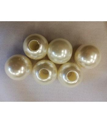 Πέρλες ABS 20mm (Ø 6mm) (5 τεμάχια)