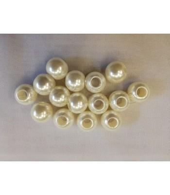 Πέρλες ABS 16mm (Ø 6mm) (10 τεμάχια)