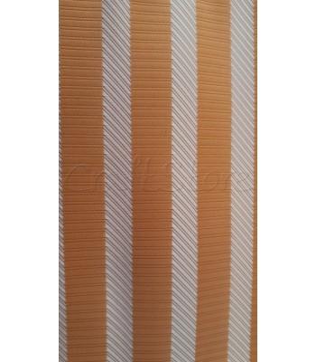 Ύφασμα Πορτοκαλί με ρίγες διαγώνιες 70 εκ. Χ 1μ.