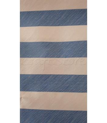 Ύφασμα Ριγέ Μπεζ-Μπλε Ραφ 70 εκ. Χ 1μ.