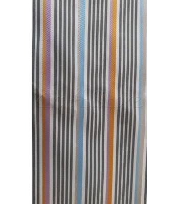 Ύφασμα Ριγέ Γκρι-Σιέλ-Πορτοκαλί 70 εκ. Χ 1μ.